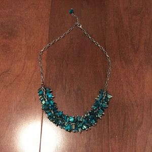 Jewelry - Gorgeous teal and blue stone silver necklace